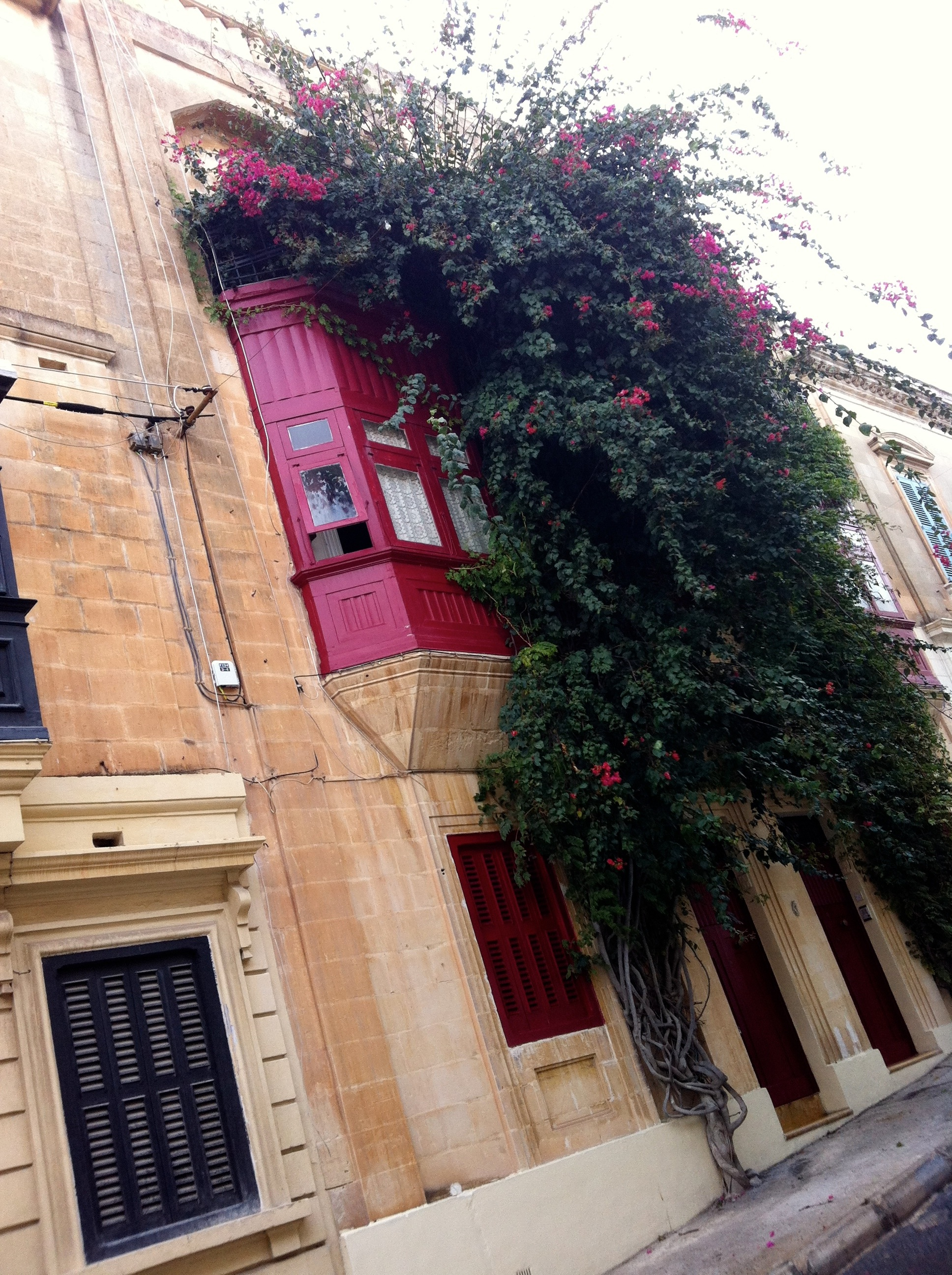 Pink Timber balcony, Sliema