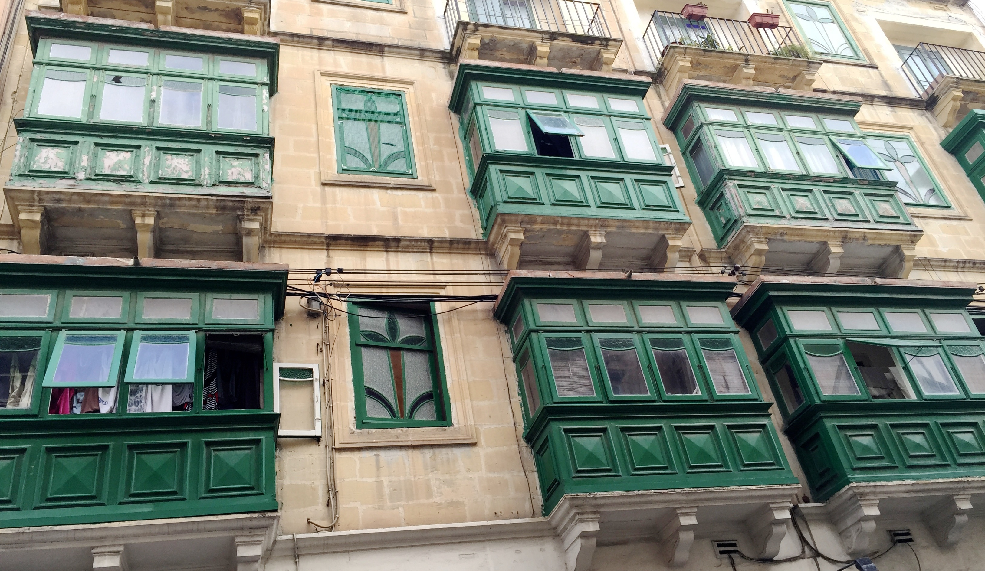 Green Timber balcony, Sliema