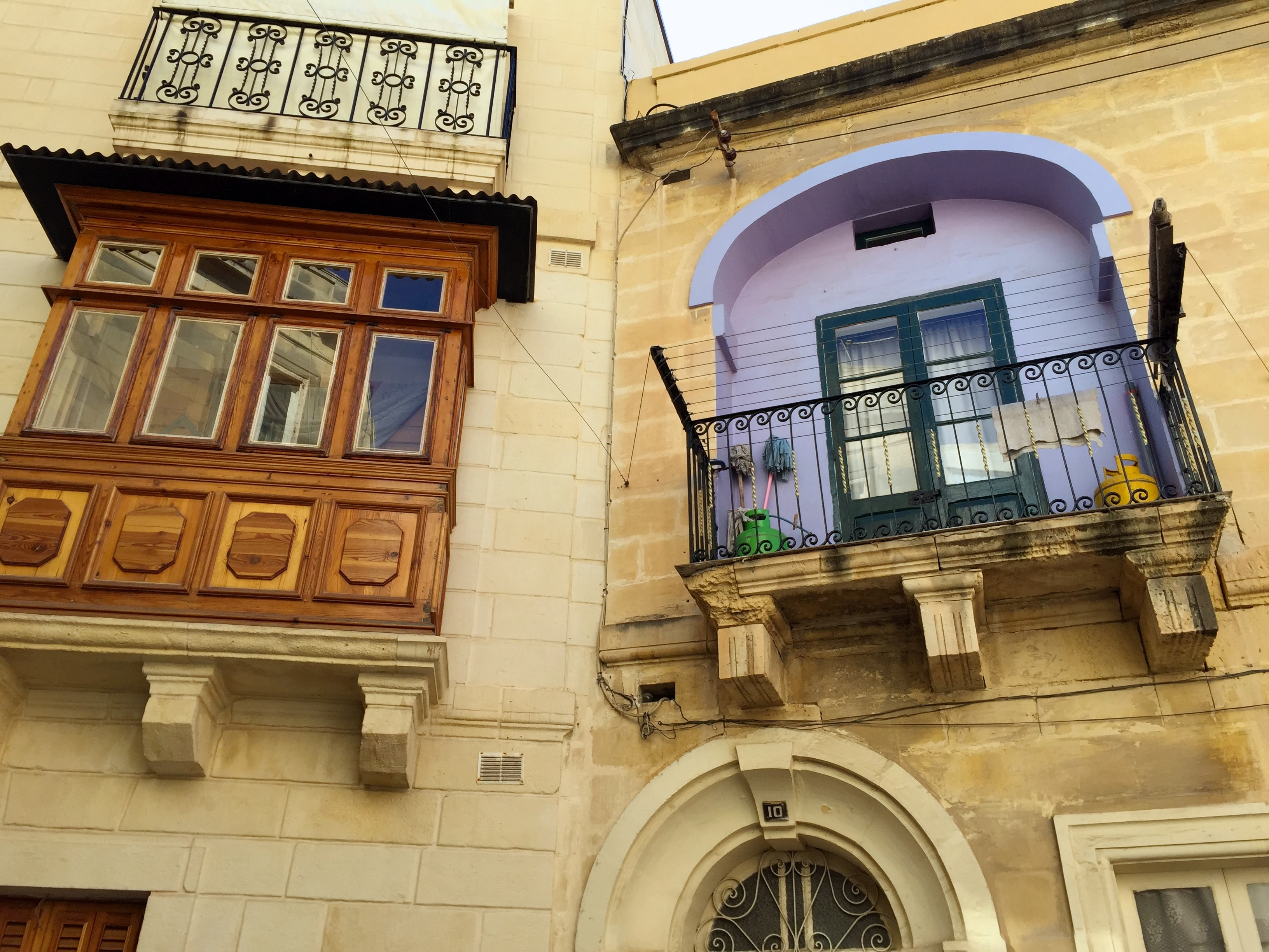Maltese Balconies - variety of shapes & colours.