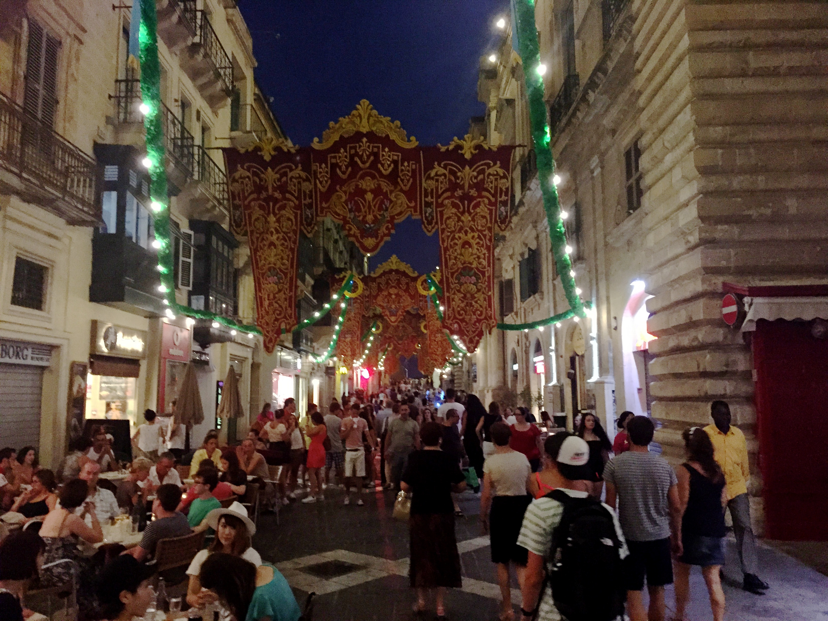 July feast in Valetta, Malta